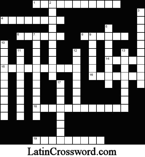 Click here to get the crossword puzzle to print and fill in